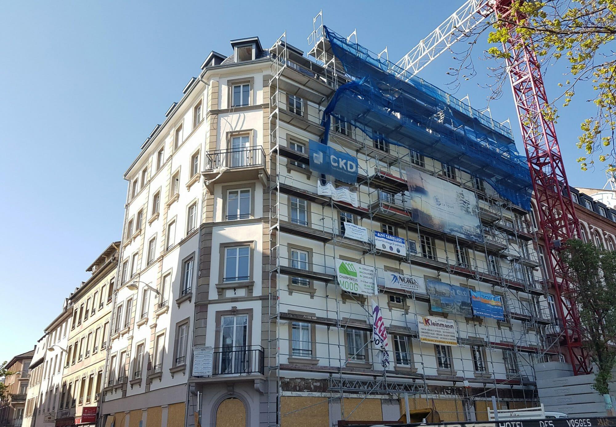 Photo de la rénovation de l'Hôtel Des Vosges