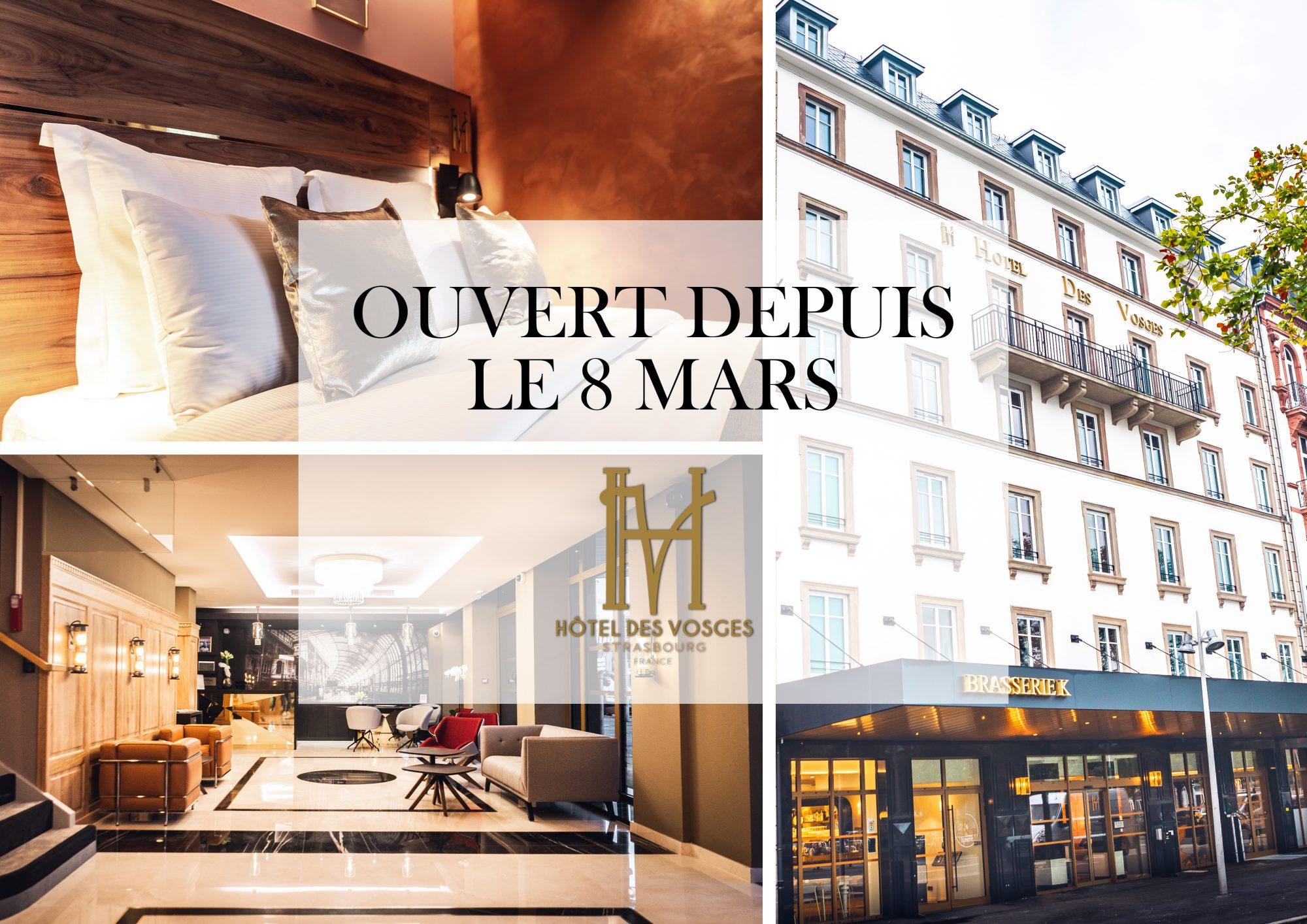 Hôtel des Vosges Strasbourg – Ouvert depuis le 8 Mars
